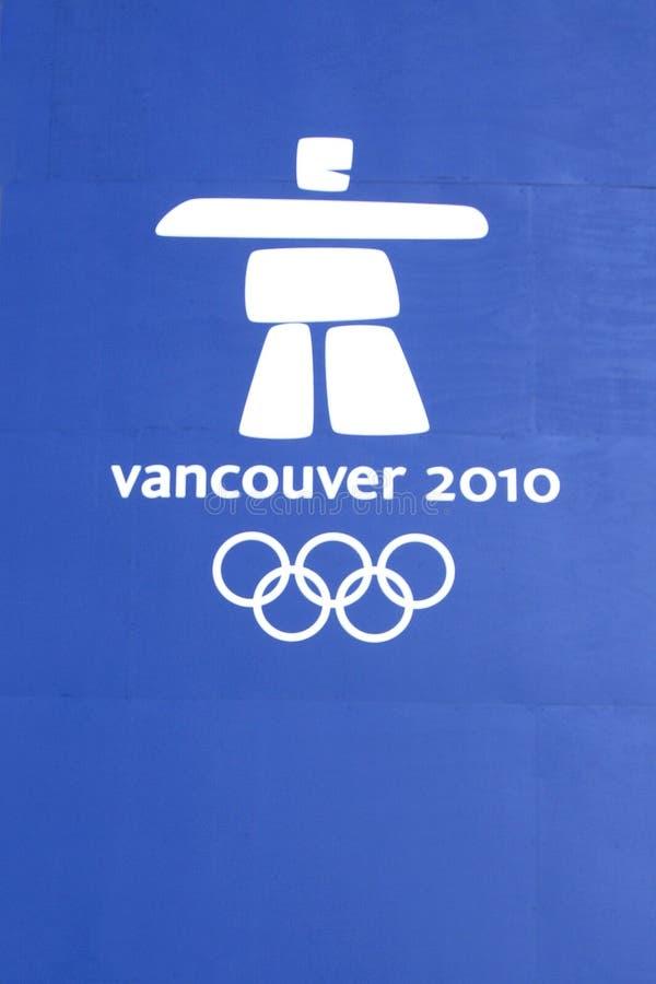 spelar logoen olympic vancouver royaltyfria foton