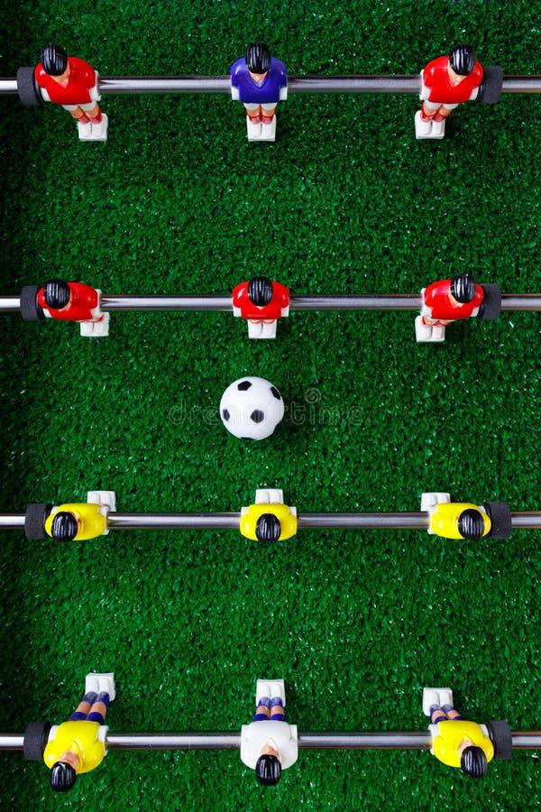 Spelare för lek för kicker för tabellfotbollfotboll royaltyfri fotografi