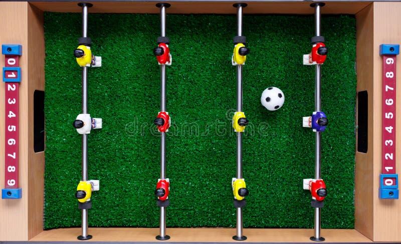 Spelare för lek för kicker för tabellfotbollfotboll royaltyfri bild