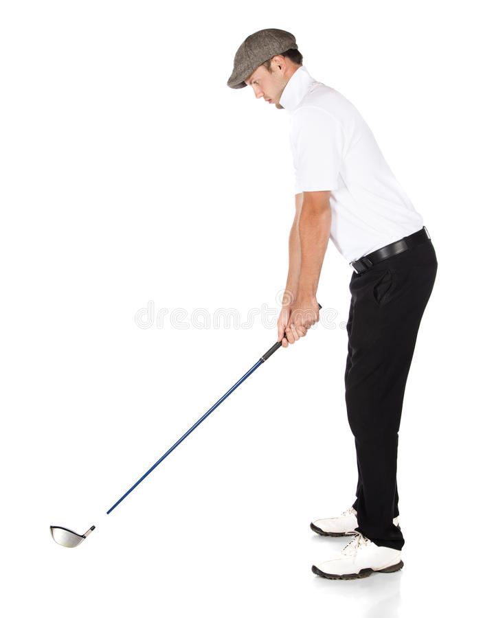 Spelare för yrkesmässig golf royaltyfri fotografi