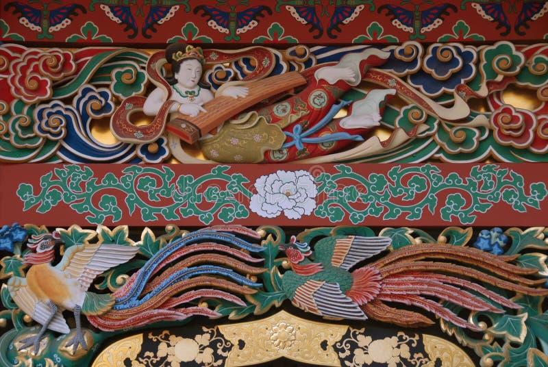 Spelare för Zuihoden mausoleumcittra arkivfoto