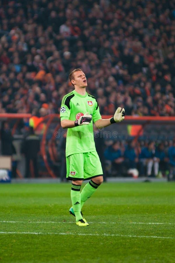 Spelare från Bayer Leverkusen royaltyfri foto