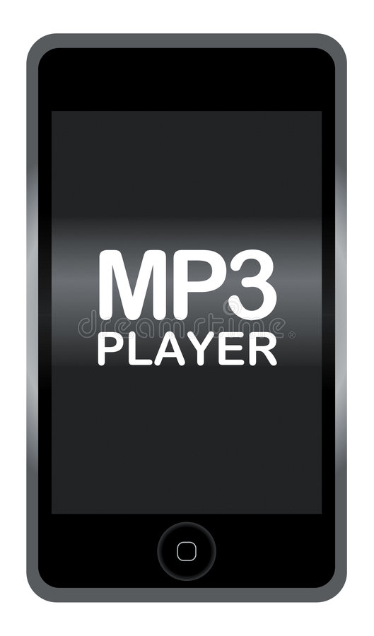 spelare mp3 stock illustrationer