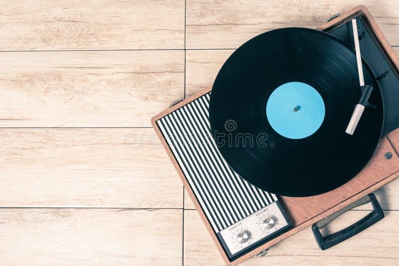 Spelarerekord och vinyltappning royaltyfri foto