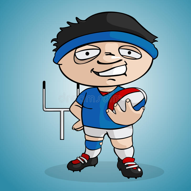 spelarerugby vektor illustrationer