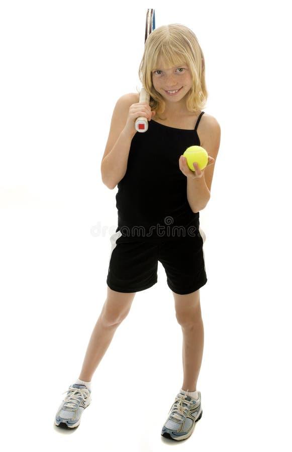 spelaretennisbarn fotografering för bildbyråer