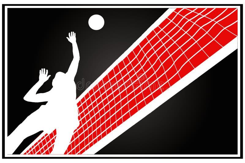 spelarevolleyboll royaltyfri illustrationer