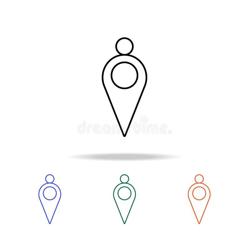 speld met puntpictogram Elementen van eenvoudig Webpictogram in multikleur Grafisch het ontwerppictogram van de premiekwaliteit E royalty-vrije illustratie