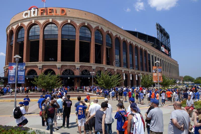 Speldag - Mets-Stadion - Queens New York royalty-vrije stock foto's