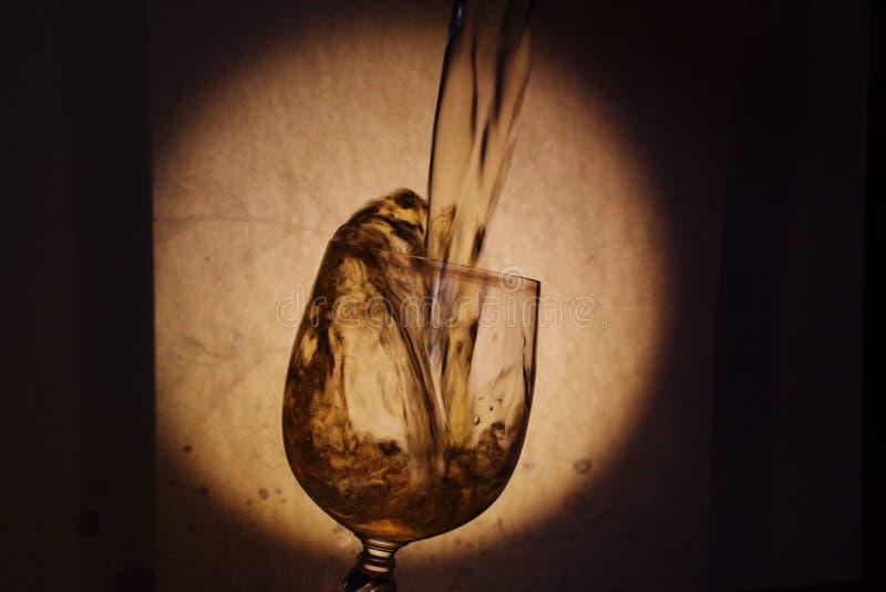 Spelen van wijnstok in het glas stock afbeelding