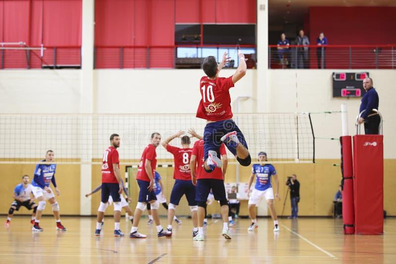 Spelepisode in een volleyballgelijke royalty-vrije stock foto's