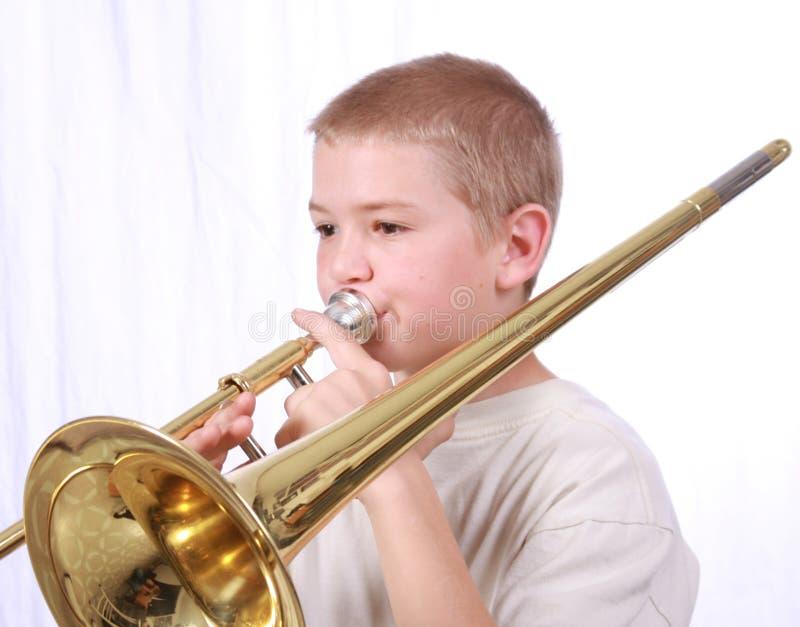 Speler 3 van de trombone stock fotografie