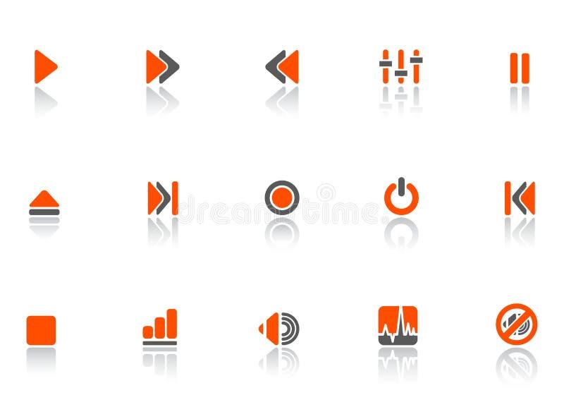 Speler en correcte pictogrammen royalty-vrije illustratie
