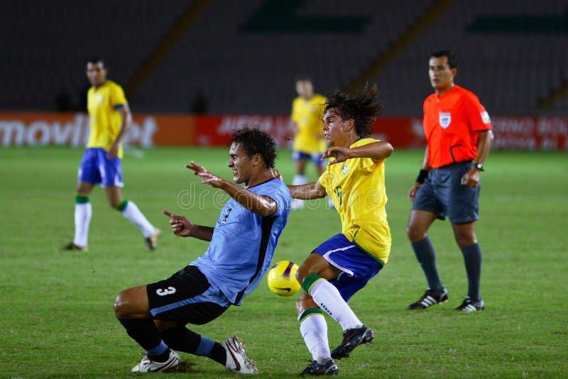 Spelers in actie stock afbeeldingen