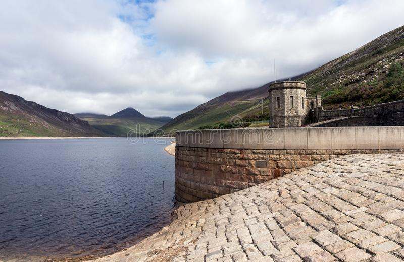 The water station at the Silent Valley. A view of the water station at the Silent Valley on a lovely day stock photo