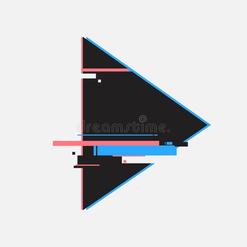 Spelknopen in glitch stijl Abstract minimaal malplaatjeontwerp voor het brandmerken Moderne achtergronddekkingsaffiches, banners, vector illustratie
