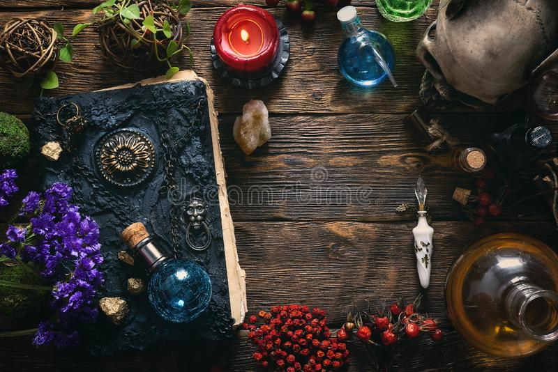 Book of magic. royalty free stock photography