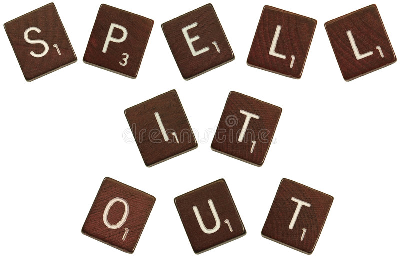 Spell it out tiles royalty free stock photography