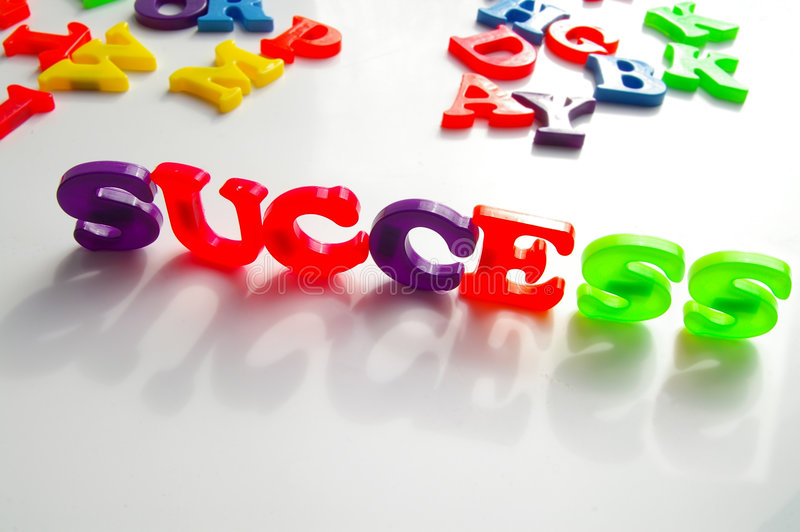 Spell success stock image