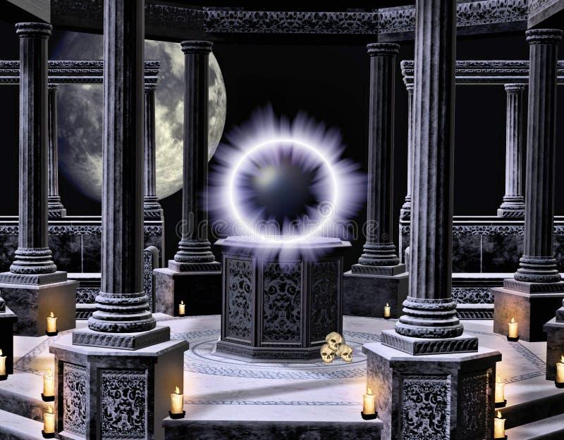A spellbinding temple vector illustration