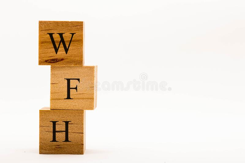 Spelling WFH royalty free stock images