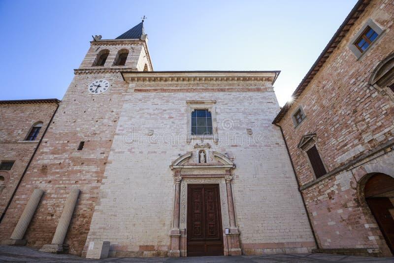 Spello Iglesia de Maria Maggiore del santo en Umbría en Italia fotos de archivo