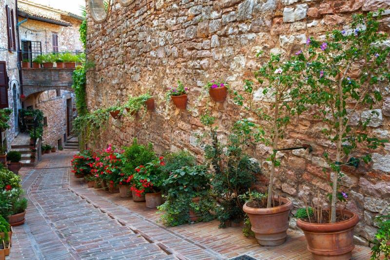 Spello, Ombrie, Italie images libres de droits