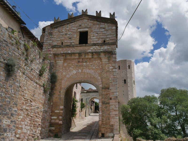 Spello - Porta Venere royalty-vrije stock fotografie