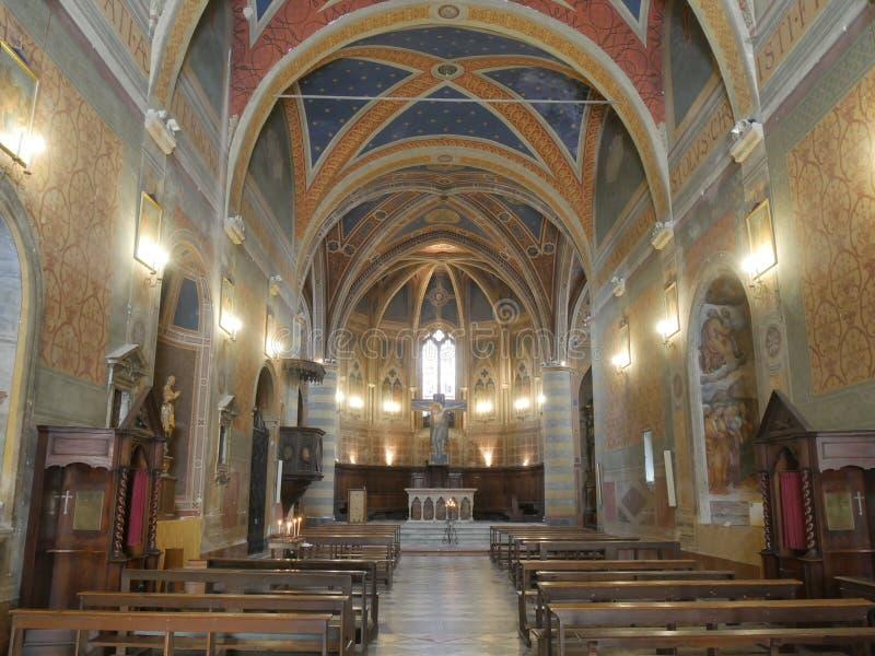Spello - St Andrew kerk royalty-vrije stock afbeeldingen