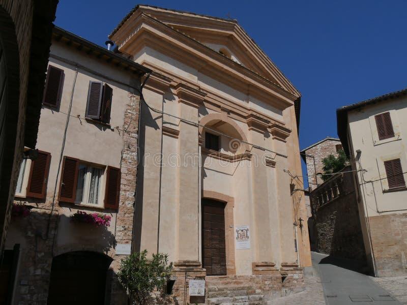 Spello - St Anna kerk stock foto's