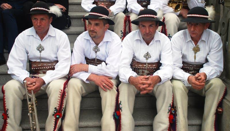 Spelmän på St Stanislaus Day royaltyfria bilder