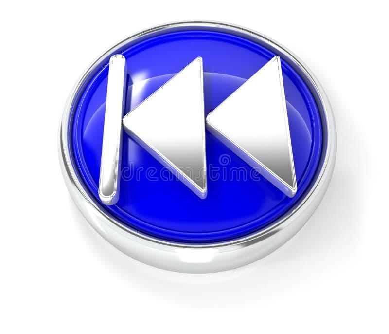 Spelpictogram op glanzende blauwe ronde knoop royalty-vrije illustratie