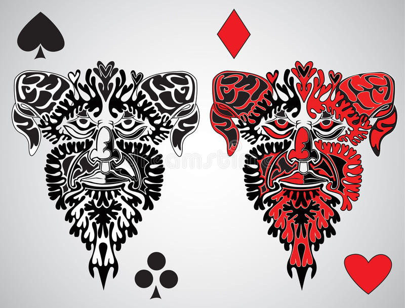 spelrum för konung för kortframsida stock illustrationer