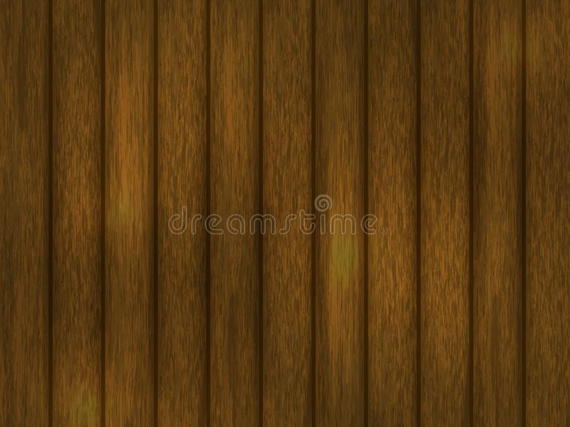 spelrum med lampa Realistisk wood textur av brunt vektor illustrationer
