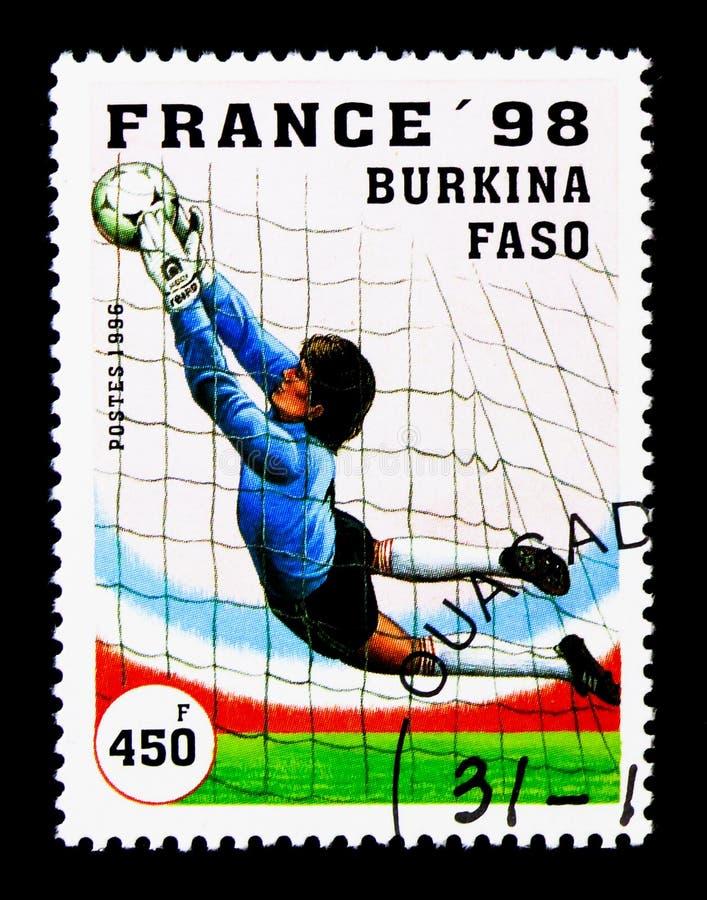 Spelscène, Wereldbekervoetbal serie, circa 1996 stock afbeeldingen