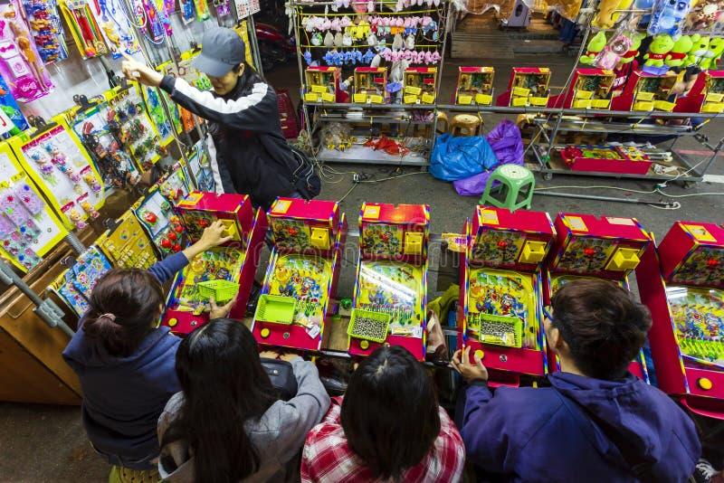 Spelstall för Taiwan Natt Market arkivbild