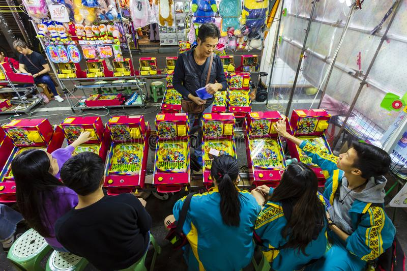 Spelstall för Taiwan Natt Market royaltyfri fotografi
