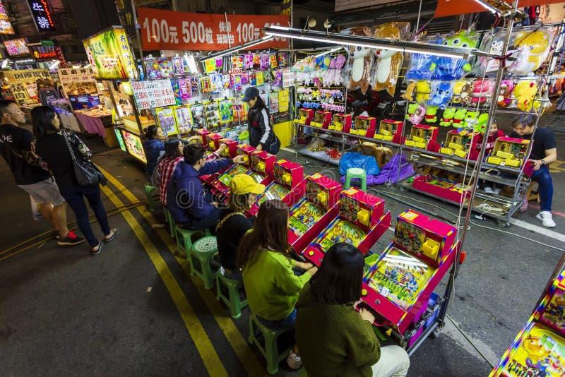 Spelstall för Taiwan Natt Market royaltyfri bild