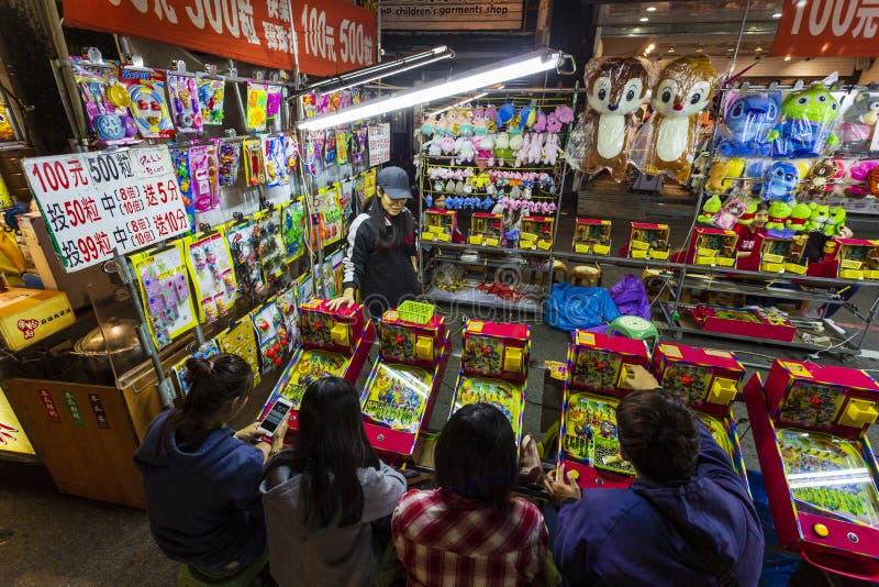 Spelstall för Taiwan Natt Market fotografering för bildbyråer