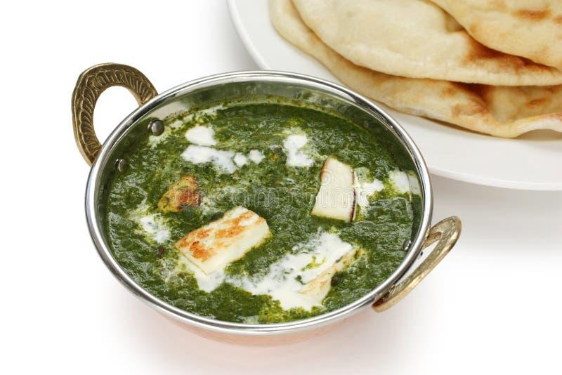 spenat för paneer för palak för ostcurry f indisk royaltyfria foton