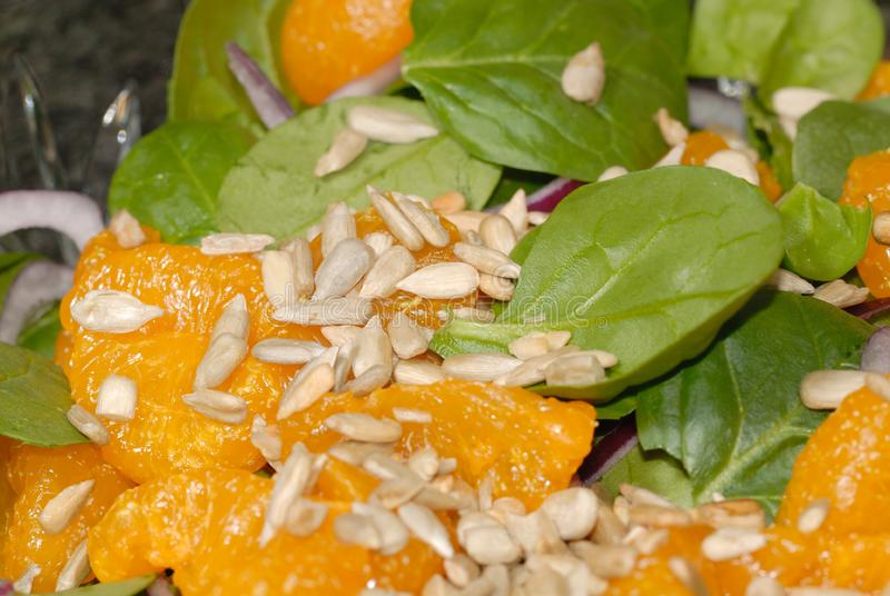 spenat för sallad för mandarinorange royaltyfri foto