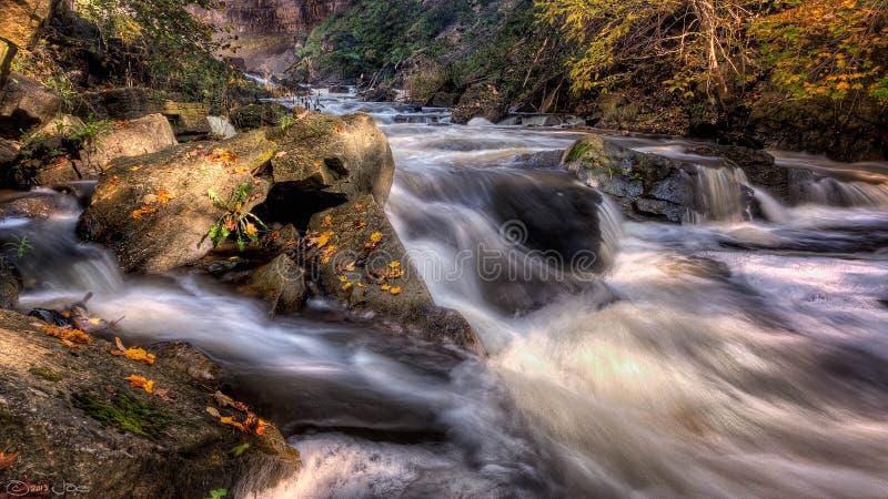 Spencer Creek, Dundas, Ontario stock images