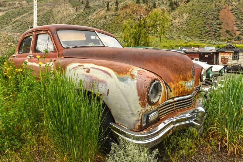 Spencesbrug, BC, oldtimer auto stock afbeelding