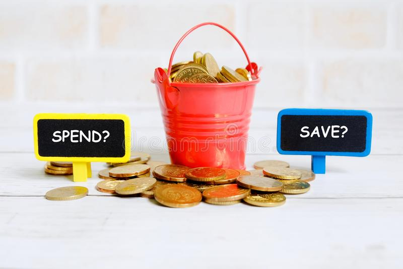 Spend or save? stock photo