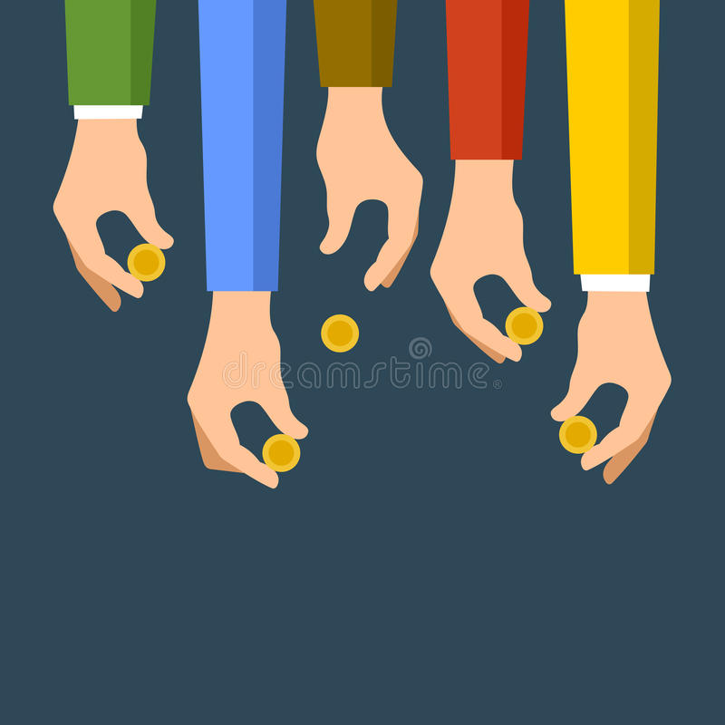 Spenden des Geld-Konzeptes Sponsor-Ikone Vektor lizenzfreie abbildung