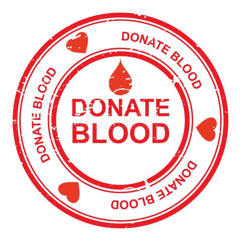 Spenden Sie Blut stock abbildung