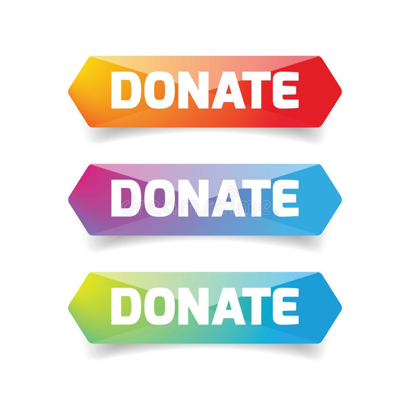 Spenden Sie das Poly Knopfsatztief lizenzfreie abbildung