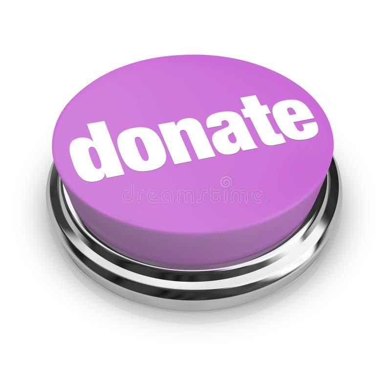 Spenden Sie - purpurrote Taste lizenzfreie abbildung
