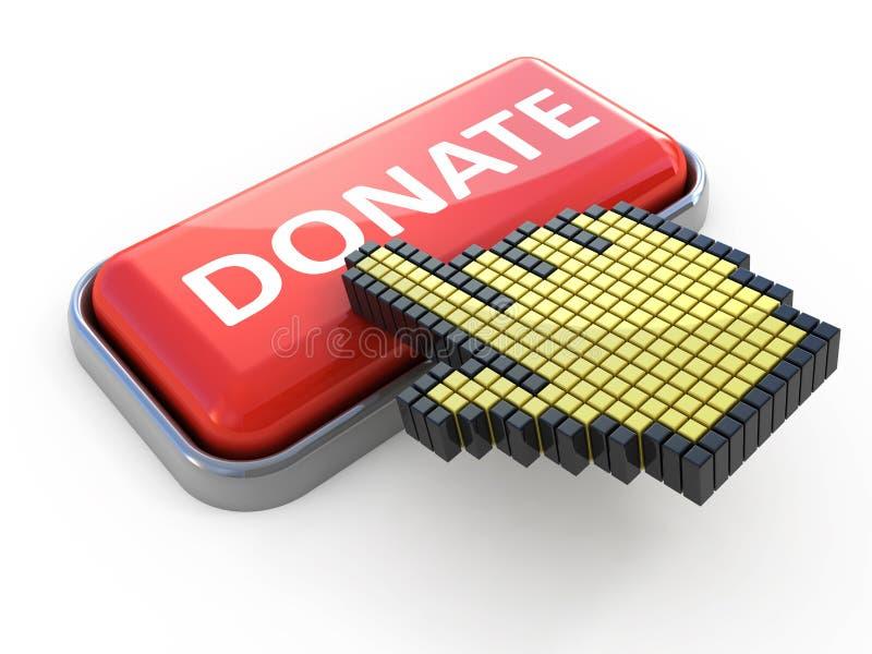 Spenden Sie Web-Taste lizenzfreie abbildung