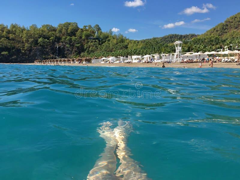 Spendera en semester på havet royaltyfri fotografi